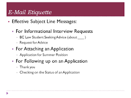 Writing A Request For Informational Interview
