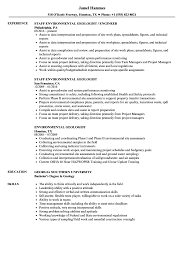 Geologist Resume Template Environmental Geologist Resume Samples Velvet Jobs 3