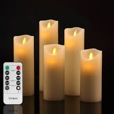 Vinkor Flameless Candles Flickering Flameless Candles Set Decorative  Flameless Candles: 4