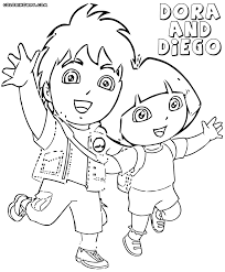 Small Picture Dora and Diego coloring pages Coloring pages to download and print