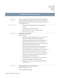 Brilliant Ideas Of Sample Dispatcher Resume Also Summary Sample