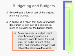 1 Chapter 4 Developing A Business Plan Budgeting Ppt Download