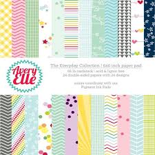 Patterned Paper Simple Avery Elle 48x48 Paper Pad Everyday Collection Retiring Ellen