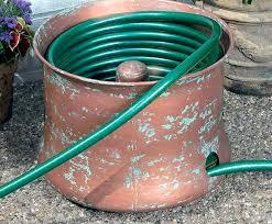 garden hose storage pot. copper garden hose holder coiled storage design embossed . pot