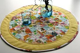 round table runner topper mat hand quilted by food52 table runners for round tables runner