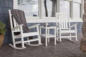 livingroom astonishing com polywood pws138 wh presidential piece rocker chair all weather rocking chairs adirondack