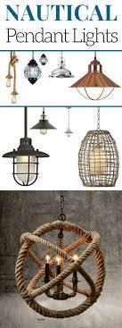 nautical pendant lights in rustic