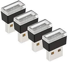 Gazechimp <b>4Pcs Mini USB LED</b> Car Interior Light Decor Neon ...