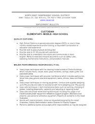 Custodial Duties Resume Free Resume Example And Writing Download