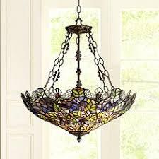 inverted bowl pendant lighting. exellent inverted floral garden 3light tiffany glass bowl pendant throughout inverted lighting