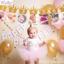 1st birthday banner fengrise first birthday baby photo frame 1st birthday banner newborn