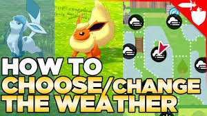 Pokemon Go Weather Chart How To Choose Change The Weather In Pokemon Sword And Shield Also Fog Sandstorm Hail
