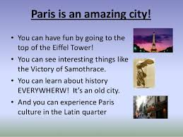 my favorite city paris eg ppt call recomendadas