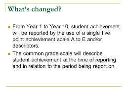 reporting student achievement human society and its environment  6 what s changed