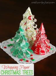Paper Christmas Tree Ornaments How To Make Wrapping Paper Christmas Trees