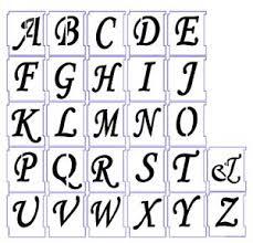 Stencil Letters Alphabet Stencils Airbrush Stencils Letter Templates 75mm 3 A Z