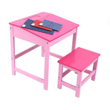 childrens kids wooden study home work writing reading table desk and stool co uk kitchen home