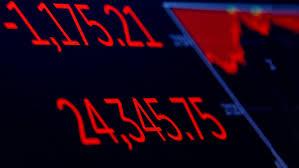 Resultado de imagen de hundimiento de las bolss indice Dow Jones