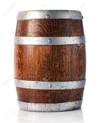 storage oak wine barrels. Coopered Wooden Oak Barrel With Metal Bands For Storage And Maturing Of Wine, Beer Or Wine Barrels