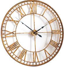 clocks uk large black vintage wall clock home traditional