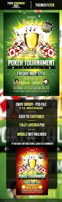 poker tour nt night flyer template by odin design graphicriver poker tour nt night flyer template events flyers