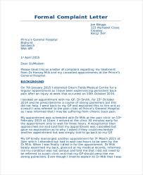 complaint letter samples formal medical complaint letter