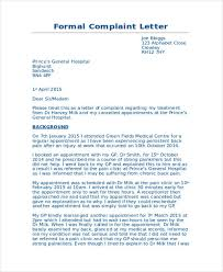 Sample Formal Letter Extraordinary 48 Complaint Letter Examples Samples PDF DOC