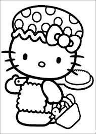 Small Picture Hello Kitty Prepares To Go Take A Shower Hello Kitty Coloring