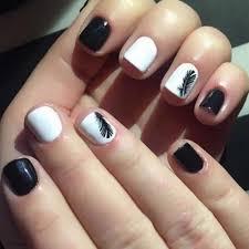 černobílé Peří Nail Art Decoration Samolepka Na Nehty Tipy Obtisky Na Vodu Vodoznak Nail Sticker At Vova