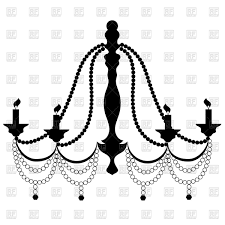 large black chandelier clip art