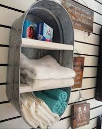 bathroom decor ideas. Country Bathroom Shelves - Repurposed Washtub Into Wall Shelf Decor Ideas