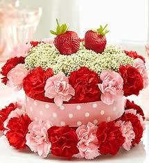 Fresh Flower Cake Strawberry Shortcake Mt Vernon Ny Florist