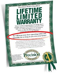 our famous garage door warranty limited lifetime warranty what is covered installation