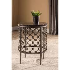 hilale furniture brescello charcoal round end table