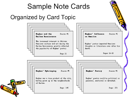 Note Card    From Resource Card Example    Pinterest