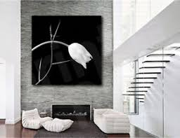 image is loading white tulip flower spiked branch black white canvas  on black and white tulip wall art with white tulip flower spiked branch black white canvas poster art print