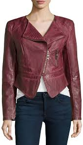 faux leather cropped jacket burdy