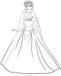 Barbie super principessa da colorare. Disegno Di Barbie Cenerentola Con Abito Matrimonio Da Stampare E Colorare Disegni Da Colorare Barbie Disegni