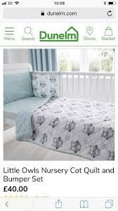 little owls cot bedding set cot mobile