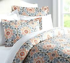 orange and gray bedding grey comforter new