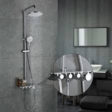 3 Funktion Duschsystem Mit Regal Regendusche Duschset Duscharmatur Dusche Rainshower Inkl Handbrause überkopfbrause Brausestange Homelody