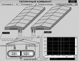 Дипломная работа Распределенная автоматизированная система  4 1 представлена основное окно программы отображения производственных процессов АСУ тепличного комбината Более подробное описание этой программы см пункт
