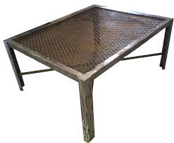 industrial style furniture. Furniture, Silver Square Metal Industrial Style Coffee Table Designs To Decorate Small Living Room Ideas Furniture