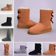 2019 snow winter leather women australia classic kneel half boots ankle boots black grey chestnut navy blue red womens girl shoes shoes for women desert