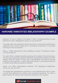 Help On How To Do An Annotated Bibliography Harward Style Format