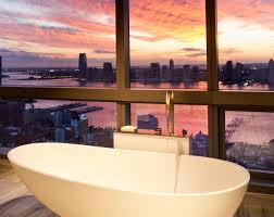 The Penthouse Suite Provides Unparalleled Views Of The New York City Sunset  With Floor To