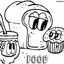 Sweet Food Coloring Pages With Cute Foods Faces Luxury Of 9 And