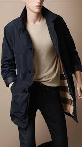 burberry brit men single ted trench coat