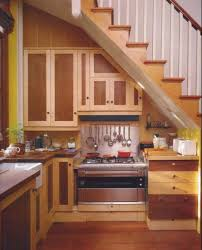 kitchen under stairs design