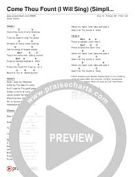 Come Thou Fount Chord Chart Come Thou Fount I Will Sing Simplified Chords Chris